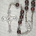 Image Link to Round Wood Bead Rosary Page
